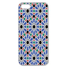 Background Pattern Geometric Apple Seamless Iphone 5 Case (clear)