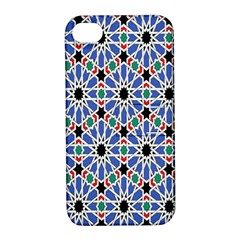 Background Pattern Geometric Apple Iphone 4/4s Hardshell Case With Stand