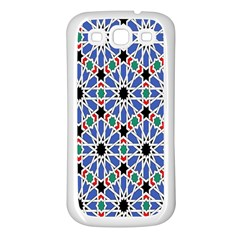 Background Pattern Geometric Samsung Galaxy S3 Back Case (white)