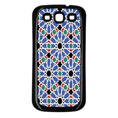 Background Pattern Geometric Samsung Galaxy S3 Back Case (black)