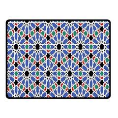 Background Pattern Geometric Double Sided Fleece Blanket (small)
