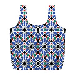 Background Pattern Geometric Full Print Recycle Bags (l)