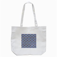 Background Pattern Geometric Tote Bag (white)