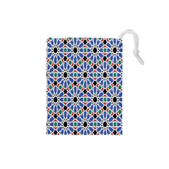 Background Pattern Geometric Drawstring Pouches (small)