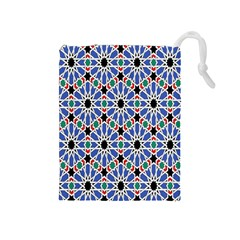 Background Pattern Geometric Drawstring Pouches (medium)