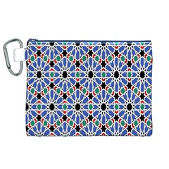 Background Pattern Geometric Canvas Cosmetic Bag (xl)
