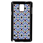 Background Pattern Geometric Samsung Galaxy Note 4 Case (Black) Front