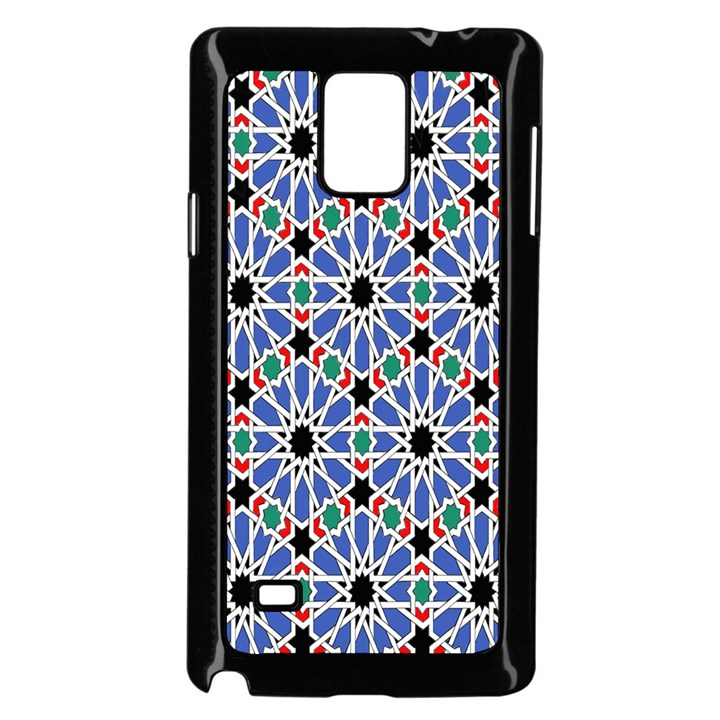 Background Pattern Geometric Samsung Galaxy Note 4 Case (Black)
