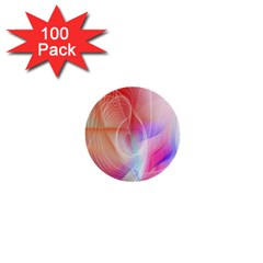 Background Nebulous Fog Rings 1  Mini Buttons (100 Pack)