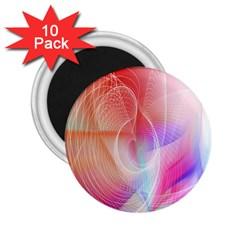 Background Nebulous Fog Rings 2.25  Magnets (10 pack)