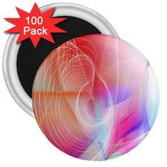 Background Nebulous Fog Rings 3  Magnets (100 Pack)