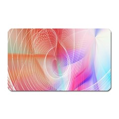 Background Nebulous Fog Rings Magnet (rectangular)