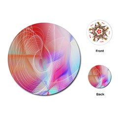 Background Nebulous Fog Rings Playing Cards (round)