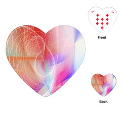 Background Nebulous Fog Rings Playing Cards (heart)