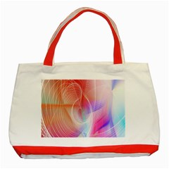 Background Nebulous Fog Rings Classic Tote Bag (red)