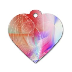 Background Nebulous Fog Rings Dog Tag Heart (two Sides)