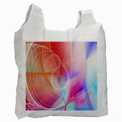 Background Nebulous Fog Rings Recycle Bag (two Side)