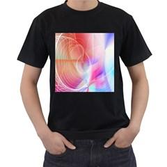 Background Nebulous Fog Rings Men s T Shirt (black)