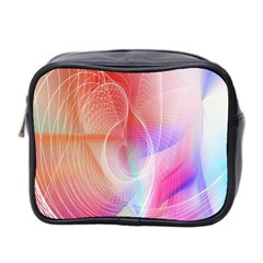 Background Nebulous Fog Rings Mini Toiletries Bag 2 Side