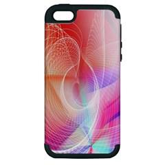 Background Nebulous Fog Rings Apple Iphone 5 Hardshell Case (pc+silicone)