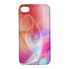 Background Nebulous Fog Rings Apple Iphone 4/4s Hardshell Case With Stand