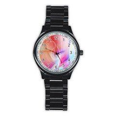 Background Nebulous Fog Rings Stainless Steel Round Watch