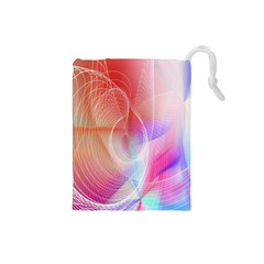 Background Nebulous Fog Rings Drawstring Pouches (small)
