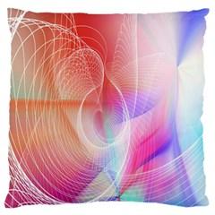 Background Nebulous Fog Rings Large Flano Cushion Case (one Side)
