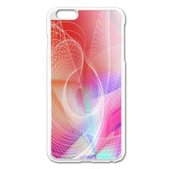 Background Nebulous Fog Rings Apple Iphone 6 Plus/6s Plus Enamel White Case
