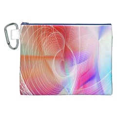 Background Nebulous Fog Rings Canvas Cosmetic Bag (xxl)