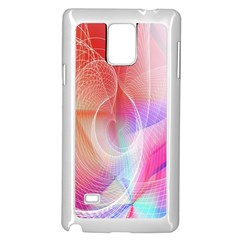 Background Nebulous Fog Rings Samsung Galaxy Note 4 Case (white)