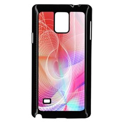 Background Nebulous Fog Rings Samsung Galaxy Note 4 Case (black)