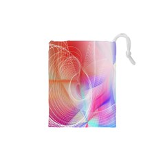 Background Nebulous Fog Rings Drawstring Pouches (xs)