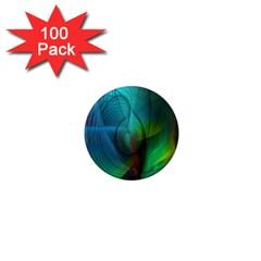 Background Nebulous Fog Rings 1  Mini Magnets (100 pack)