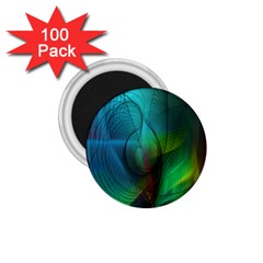 Background Nebulous Fog Rings 1 75  Magnets (100 Pack)