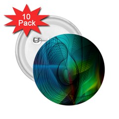 Background Nebulous Fog Rings 2 25  Buttons (10 Pack)