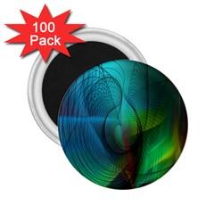 Background Nebulous Fog Rings 2 25  Magnets (100 Pack)