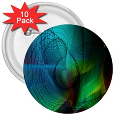 Background Nebulous Fog Rings 3  Buttons (10 Pack)