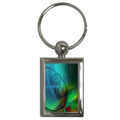 Background Nebulous Fog Rings Key Chains (rectangle)