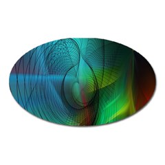 Background Nebulous Fog Rings Oval Magnet