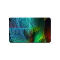 Background Nebulous Fog Rings Magnet (name Card)