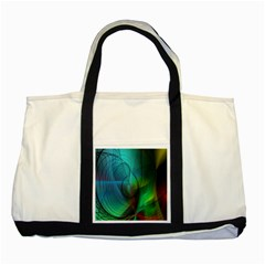 Background Nebulous Fog Rings Two Tone Tote Bag