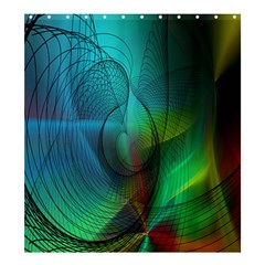 Background Nebulous Fog Rings Shower Curtain 66  X 72  (large)