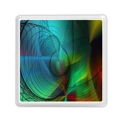 Background Nebulous Fog Rings Memory Card Reader (square)