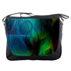 Background Nebulous Fog Rings Messenger Bags