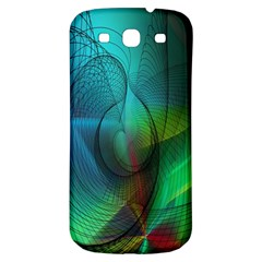 Background Nebulous Fog Rings Samsung Galaxy S3 S Iii Classic Hardshell Back Case