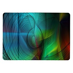 Background Nebulous Fog Rings Samsung Galaxy Tab 10 1  P7500 Flip Case