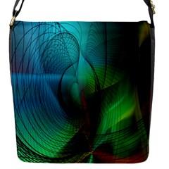 Background Nebulous Fog Rings Flap Messenger Bag (s)