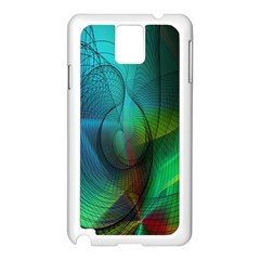 Background Nebulous Fog Rings Samsung Galaxy Note 3 N9005 Case (White)
