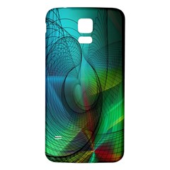 Background Nebulous Fog Rings Samsung Galaxy S5 Back Case (white)